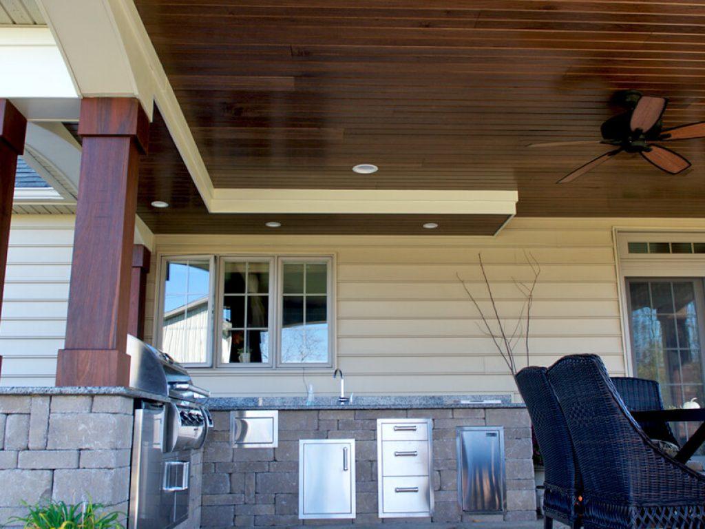 roof over outdoor kitchen