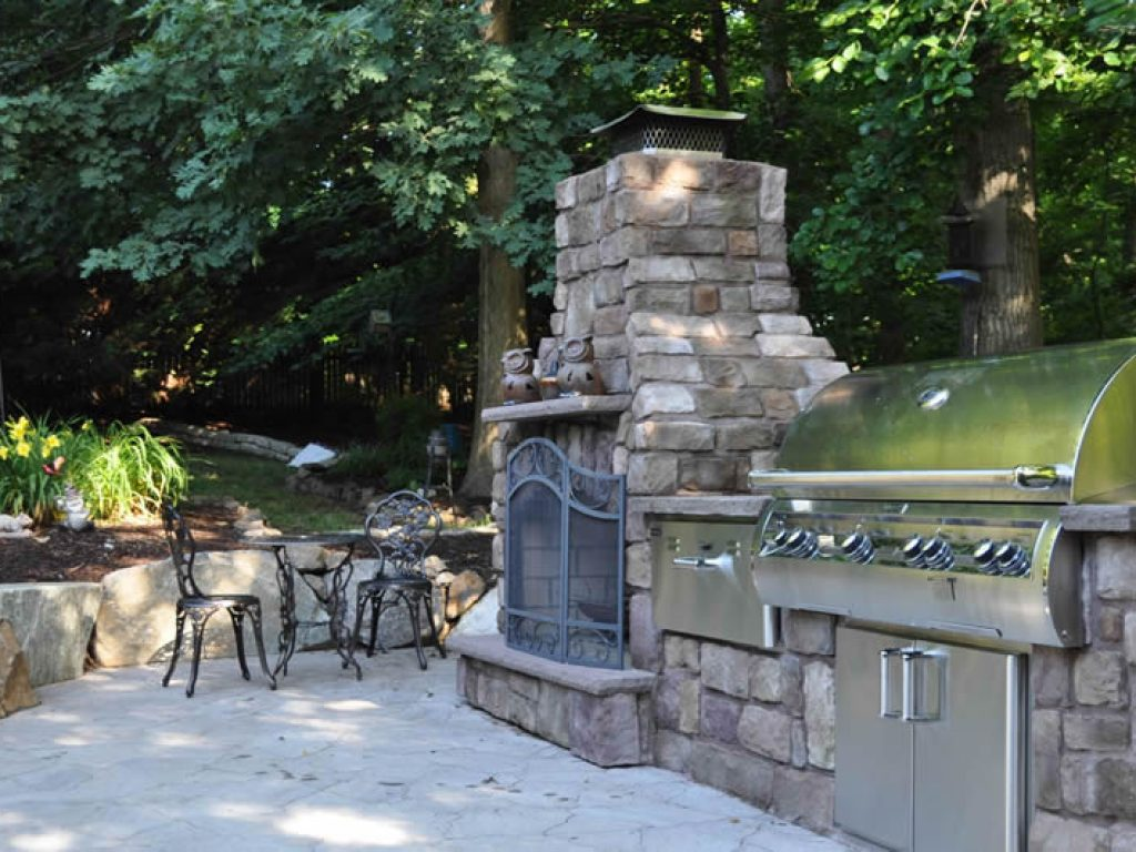 outdoor grill island in lancaster county