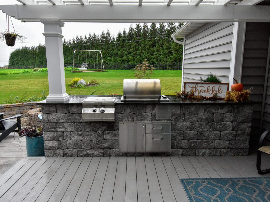 outdoor kitchen installation in lancaster county