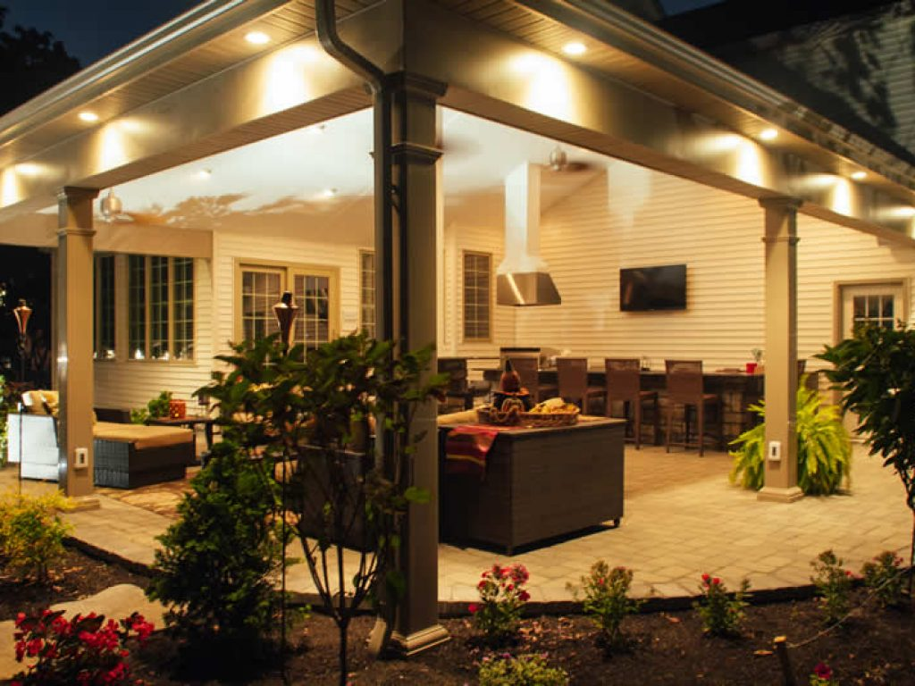 stone patio installation in chester county
